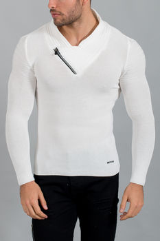 pull homme blanc 1565