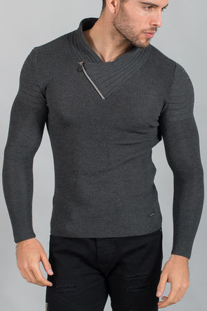 pull homme gris smoke 1565