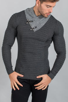 pull homme gris smoke  1620
