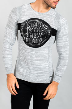 pull homme gris 1655