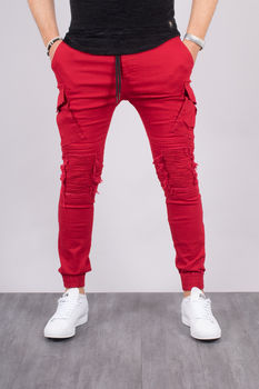 joggpants  homme rouge 7618