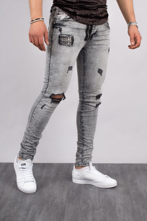 Jeans homme skinny gris 72205