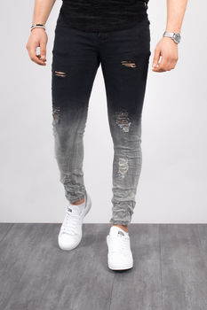 jeans homme skinny tie and dye 15280