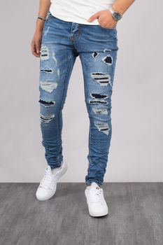 Jeans homme skinny bleu clair 72186