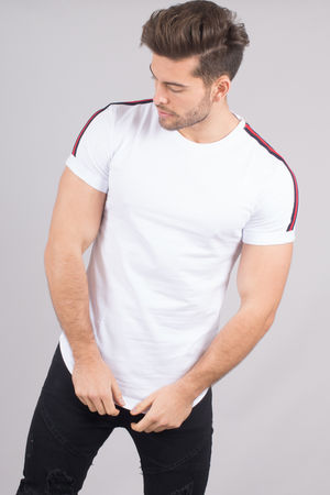 T-shirt homme blanc AA18003