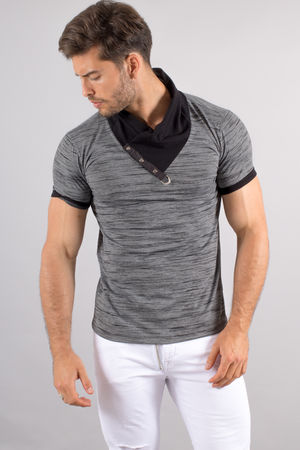 T-shirt homme gris antra stylé 1265