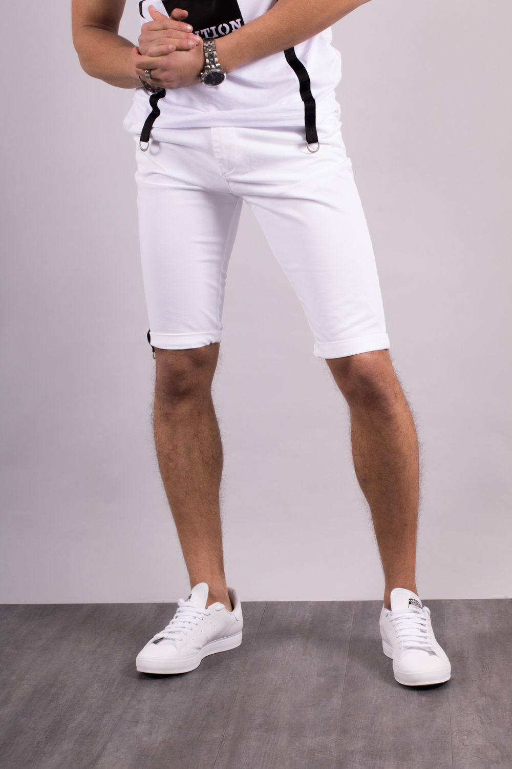 new concept good quality official images bermuda homme chino blanc 9110