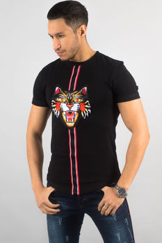 t-shirt homme noir AA  animals