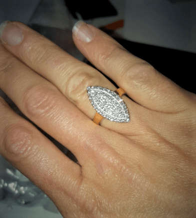 BAGUE chevaliere FEMME  MARQUISE