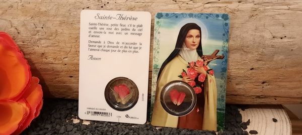CARTE PRIERE A SAINTE THERESE