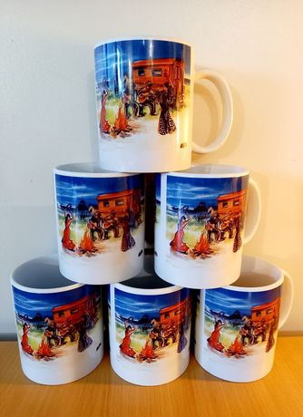 LOT DE 6 MUGS FEU DE CAMP