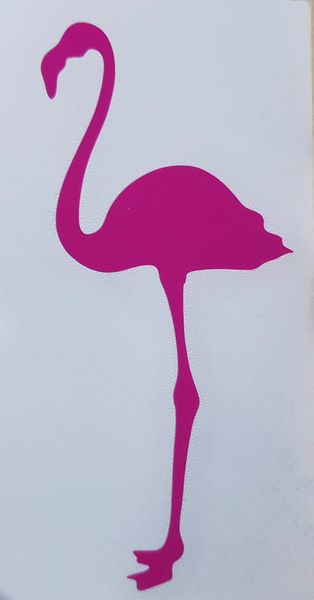 ADHESIF STICKERS FLAMANT ROSE PATTE DROITE