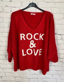 Pull Rock and Love rouge