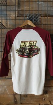 T-shirt Baseball Muscle Car Unisexe