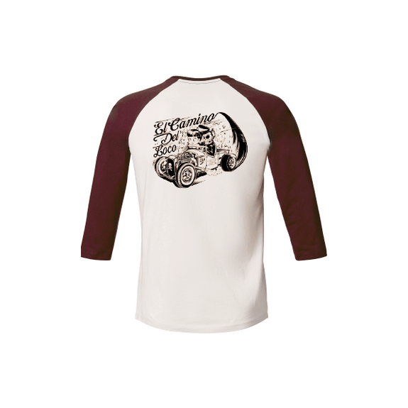 T-SHIRT Baseball Hot rod Skull