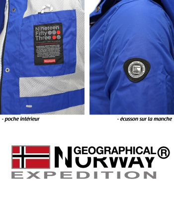 Veste mi saison Geographical Norway