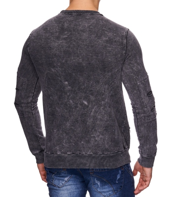 Pull fashion homme col rond