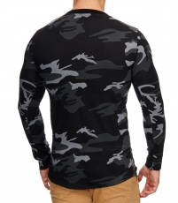 Pull col rond camo et patch