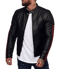 Veste cuir homme fashion
