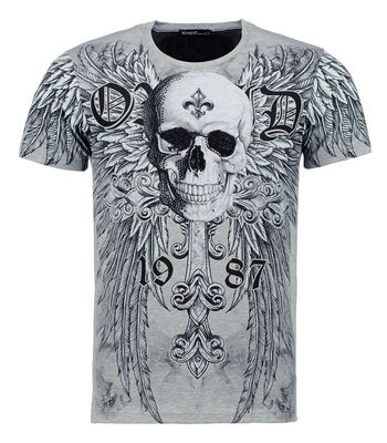T-shirt fashion skull, strass