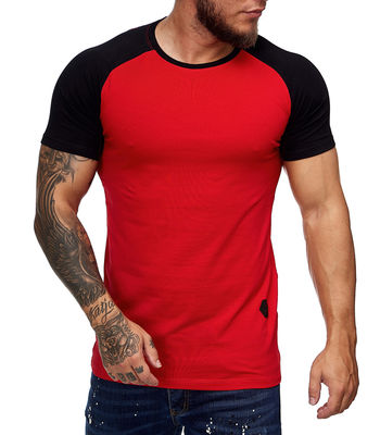 T-shirt fashion bi color homme pas cher rouge