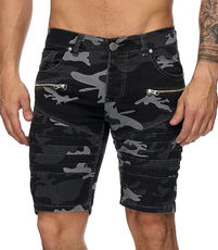 Bermuda jeans camouflage