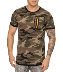 T shirt fashion camouflage militaire