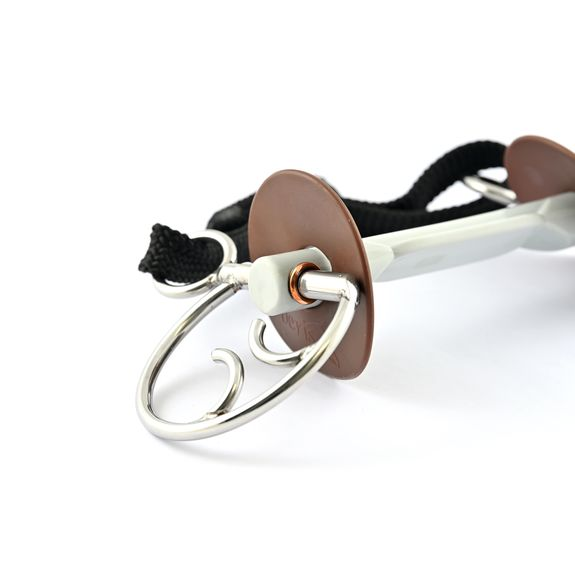Kimblewick bit with butterfly snaffle soft