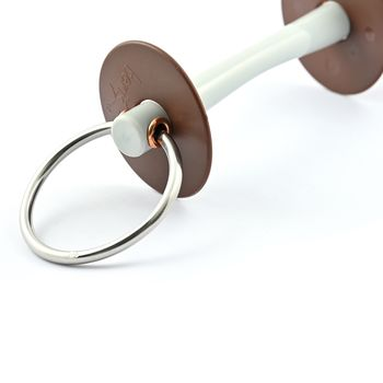 Loose ring bit with soft comfort bar thin