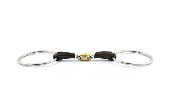 French mouth loose ring covered with leather bit
