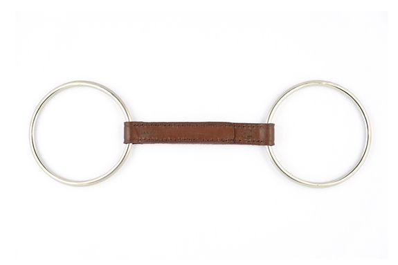 Leather loose ring bit
