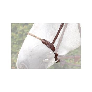 Double noseband LEATHER Cover