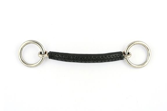 Leather snaffle bit