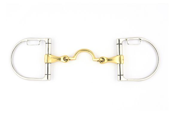 High port loose French mouth D rings with pass