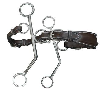 Full cheeks leather hackamore