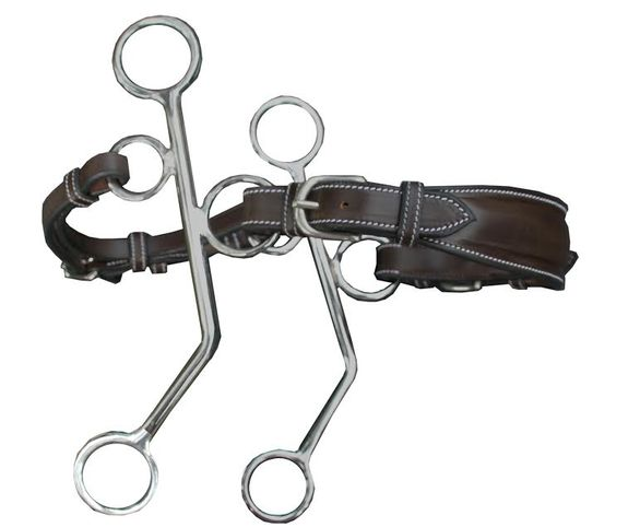 Small cheeks leather hackamore