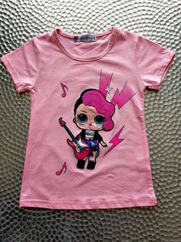 "T Shirt "" LOL ROCK "" Rose"