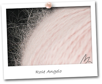100% ANGORA - coloris ROSE ANGELO