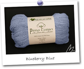 Pima Coton - Blueberry Blue