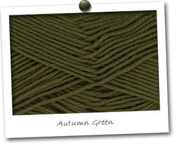 MERINOS & COTON - coloris AUTUMN GREEN