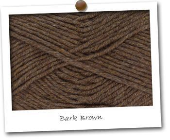 MERINOS & COTON - coloris BARK BROWN