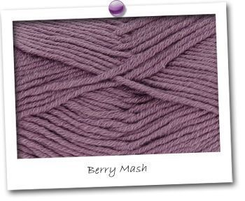 MERINOS & COTON - coloris BERRY MASH