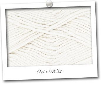 MERINOS & COTON - coloris CLEAR WHITE