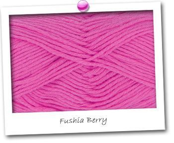 MERINOS & COTON - coloris FUSHIA BERRY
