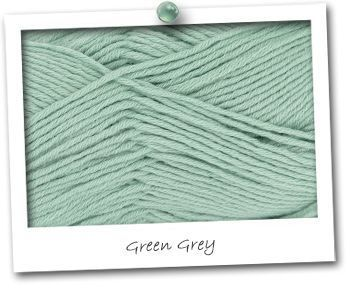 MERINOS & COTON - coloris GREEN GREY