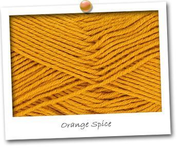 MERINOS & COTON - coloris ORANGE SPICE