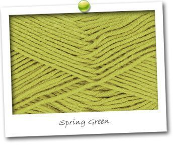 MERINOS & COTON - coloris SPRING GREEN
