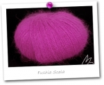 100% ANGORA - coloris FUSHIA SCALA