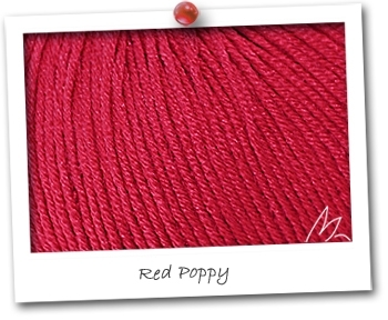 MERINOS & SOIE - coloris RED POPPY