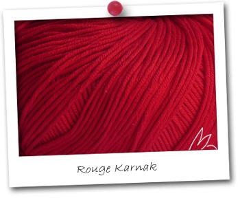 EGYPTO - coloris ROUGE KARNAK